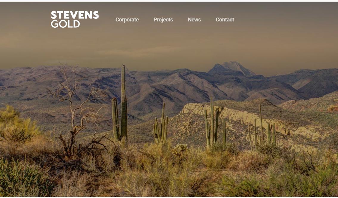 Stevens Gold a WordPress Website